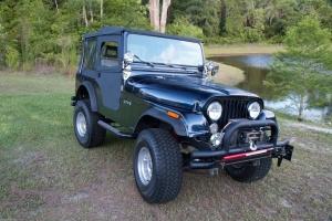 Jeep by lake
