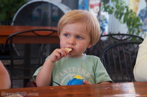 Liam eating a pop tart