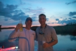 Michael and I Night boating.
