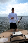 Michael during our redfish expedition that later became rather scary.