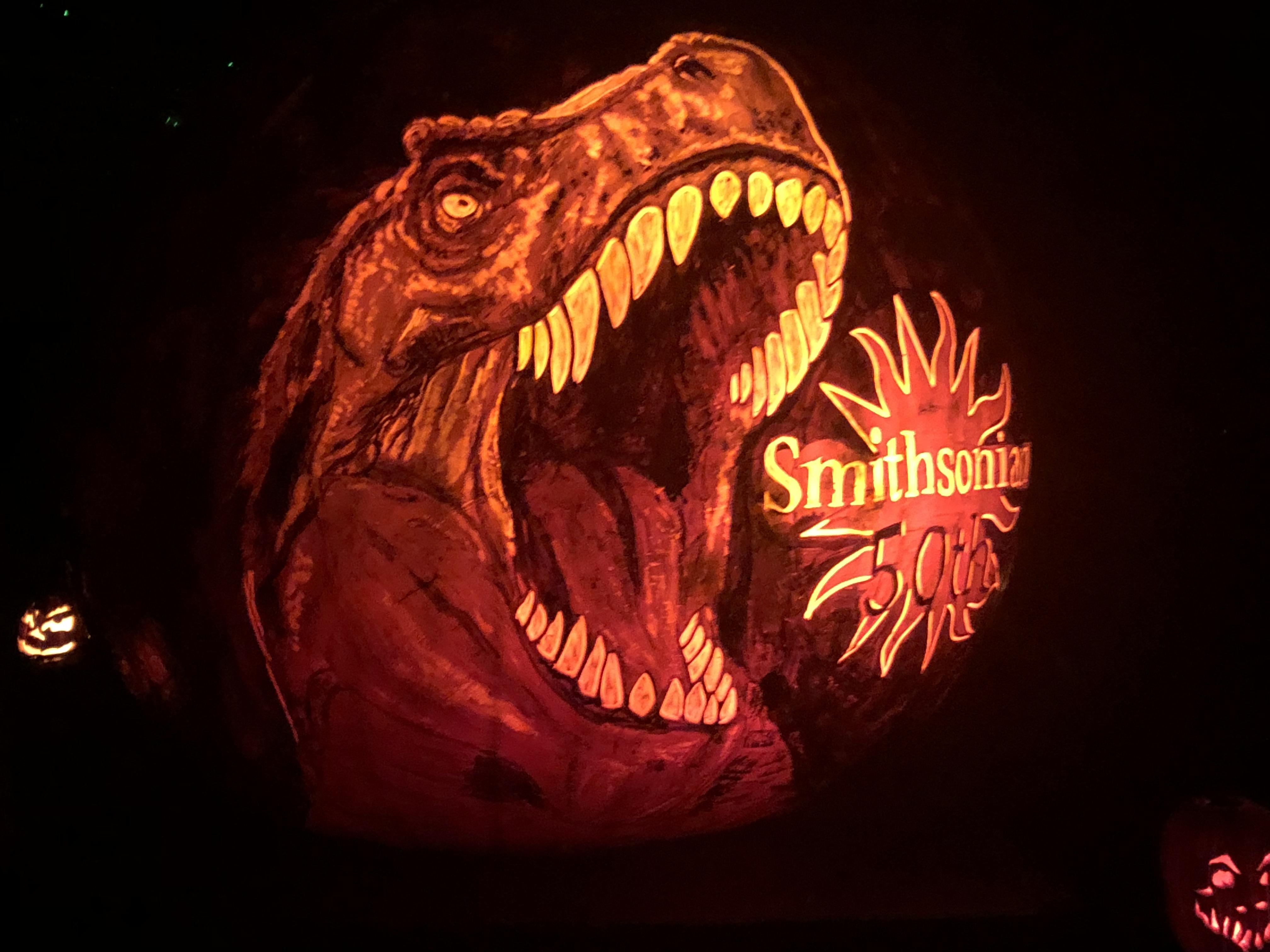 Smithsonian theme pumpkin