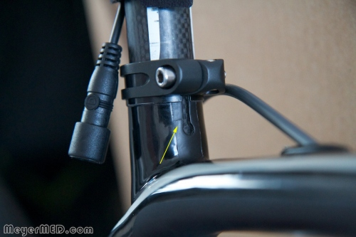 Crack in seat tube