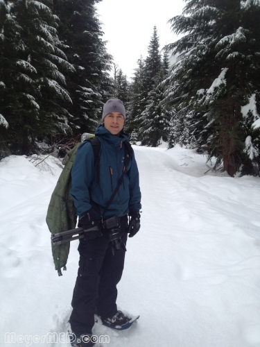 Dustin in snowshoes